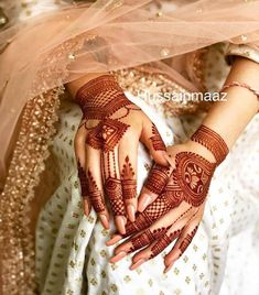 94 Easy Mehndi Designs For Your Gorgeous Henna Look Henna Hand Designs, Mehandi Designs, Mehndi Designs Finger, Mehndi Design Pictures, Wedding Mehndi Designs, Unique Mehndi Designs, Wedding Henna, Beautiful Henna Designs, Henna Tattoo Designs