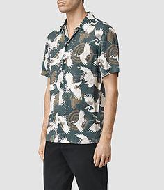 Men's Tsuru Shirt (Blue) - product_image_alt_text_2