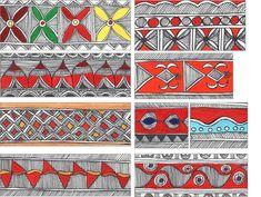 madhubani paintings border designs - Google Search