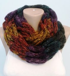 Knitted Scarf,Infinity Scarf,Neck Warmer from knit and crochet world by DaWanda.com