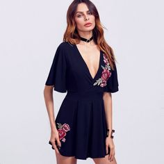 New arrival: Deep V-neck Exqui... Buy it now: http://simplysonya731.net/products/deep-v-neck-exquisite-flowers-dress?utm_campaign=social_autopilot&utm_source=pin&utm_medium=pin