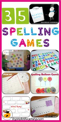 35 Spelling Games For Students Of All Ages is part of children Games Spelling Words - A fantastic roundup of fun spelling games that will suit students of all ages Spelling Practice, Grade Spelling, Spelling Activities, Spelling Words, Classroom Activities, Learning Activities, Kids Learning, Spelling Ideas, Spelling Centers