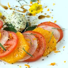 Indian Summer Tomato, Orange & Sweet Onion Salad | LunaCafe