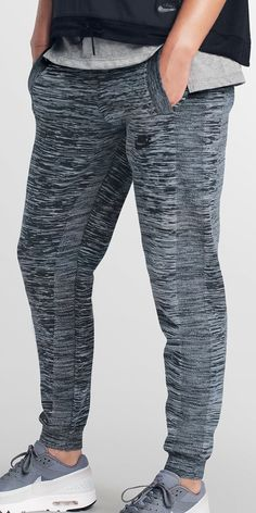201ec99af9b9 Make moves in casual comfort in the Nike Tech Knit Track Pant — with a  relaxed