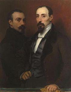 Portraits of Achille & Eugène Deveria ~ Eugène Deveria ~ (French : 1805-1865)