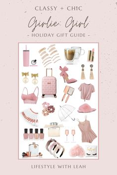 A 2020 Holiday Gift Guide for the girly girl. A curated list of all things pink, all things classy and all things chic!