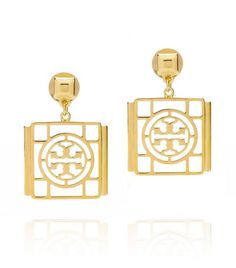 Caleb Logo Drop Earring | Womens Earrings & Rings | ToryBurch.com