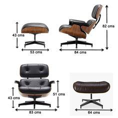 Mueble Design Muebles de diseño - Modern Classics de diseño - Eames Lounge Chair Nogal