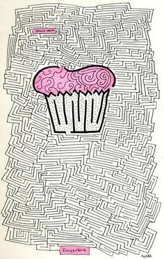 student work Maze drawing Blog