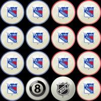 New York Rangers Home vs. Away 8-Ball Billiard Team Ball Set: Take your favorite team to the pool table.… #Sport #Football #Rugby #IceHockey