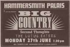 Big Country live at Hammersmith Palais