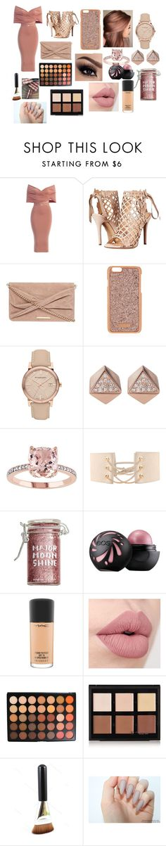 """""""Going to a Party"""" by queenlamyaa ❤ liked on Polyvore featuring Marchesa, Dorothy Perkins, Henri Bendel, Burberry, FOSSIL, Major Moonshine, MAC Cosmetics, Morphe and Anastasia Beverly Hills"""