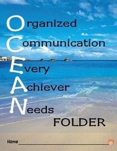 Ocean themed folder
