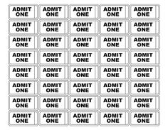 free printable tickets