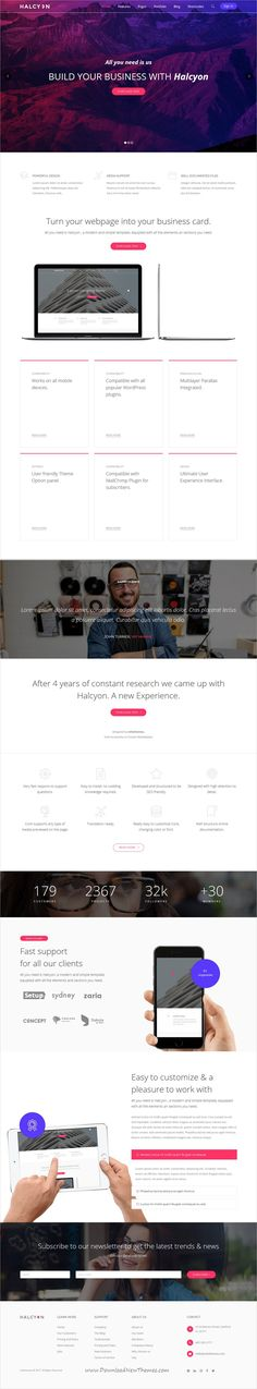 Halcyon is clean and modern design multipurpose responsive #WordPress theme for creative #agency website with 30+ stunning niche homepage layouts download now..
