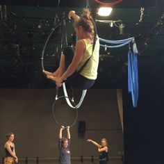 """93 Likes, 14 Comments - Megan Mallouk (@miss_macaroni) on Instagram: """"Flag, twist, beat to straddle. Aerial Dance Festival Boulder, Colorado. Lyra with Shayna Swanson.…"""""""