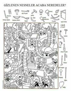 Spring NO PREP Spanish Literacy Centers: Primavera, actividades y centros. Hidden Picture Games, Hidden Picture Puzzles, Hidden Pictures Printables, Hidden Images, Hidden Pics, Fun Worksheets, Alphabet Worksheets, Activity Sheets, Preschool Activities