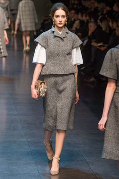 Dolce&Gabbana Fall 2013 #fashion #runway #dolceandgabbana