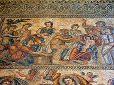 The House of Aion - Roman Mosaics in Paphos Cyprus - Paphos Archaeological Park - Travel Images
