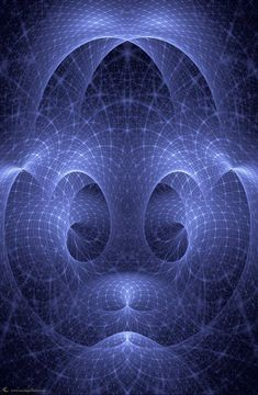 """""""string theory"""" ... blue fractal ... fractal flame by Cory Ench"""