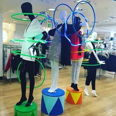 "HARVEY NICHOLS,Leeds,UK, ""Listen Mandy...hula hoops are excellent for adults and provide hours of entertainment and a trimming workout"", photo by Jennifer Katie, pinned by Ton van der Veer"