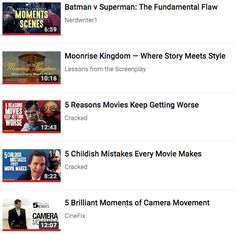 Filmmaking, a how-to youtube playlist