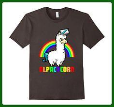 Mens Alpacacorn Funny Unicorn Rainbow 2XL Asphalt - Fantasy sci fi shirts (*Amazon Partner-Link)