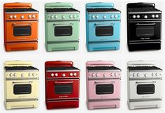 Love colored ovens.