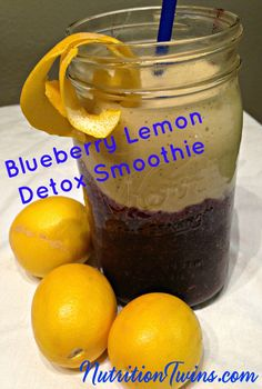 Blueberry-Lemon Morning Detox Smoothie | Wake up & rejuvenate | Easy To Make | Flush Bloat & Get anti-aging and disease-fighting phytonutrients |Hello, recharged, cleansed body! | For MORE RECIPES, Fitness & Nutrition Tips please SIGN UP for our FREE NEWSLETTER www.NutritionTwins.com