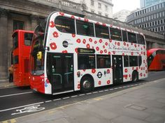 A London red bus, 2014 London Red Bus, Remembrance Day Poppy, About Uk, Poppies, Buses, Vehicle, Life, Baby, Poppy
