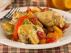 Captain's Chicken - This chicken recipe is made with chicken thighs and drumsticks and is one of the most flavorful chicken dishes you'll ever have. #diabetic #slowcooker