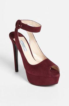 Be still, my heart. Prada Ankle Strap Platform Sandal