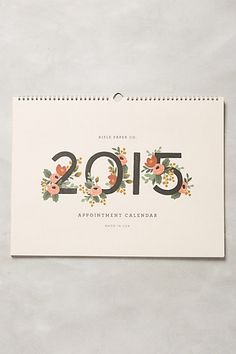 Gardenia 2015 Desk Calendar by Rifle Paper co.