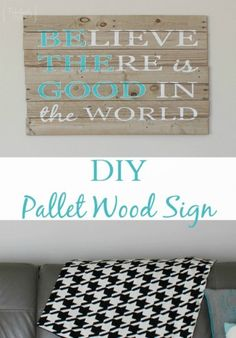 CUTE pallet project! Make one for yourself and one as a gift! Find the instructions and supplies needed in our picture tutorial!