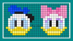 theme mickey donald et cie Loom Beading, Beading Patterns, Pixel Art Minecraft, Theme Mickey, Modele Pixel Art, Pix Art, Pixel Pattern, Iron Beads, Melting Beads