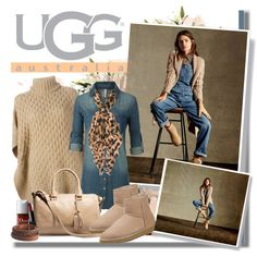 A fashion look from September 2015 featuring LE3NO dresses, MICHAEL Michael Kors sweaters and UGG Australia mini skirts. Browse and shop related looks.