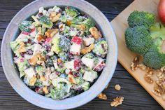 Broccoli & Apple Salad   www.thekitchenismyplayground.com  #broccoli #salad