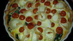 Spinazietaart met geitenkaas en cherrytomaatjes