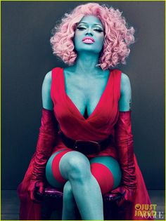 Oh Nikki Minaj, and your bizarre fashions. But, I must ask why did you chose to be blue for Vogue?