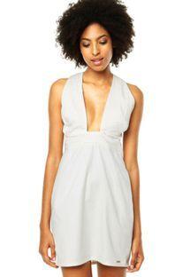 Vestido Colcci Slim Pregas Off-white
