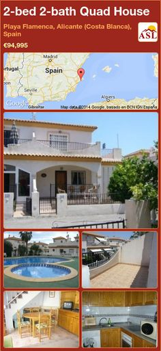 2-bed 2-bath Quad House in Playa Flamenca, Alicante (Costa Blanca), Spain ►€94,995 #PropertyForSaleInSpain