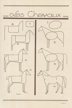 Horse #draw - french art tutorial