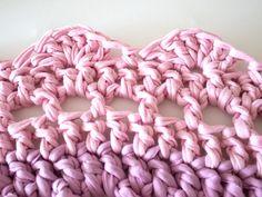 Crochet t-shirt rug
