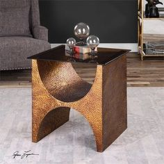 Uttermost Rafaele Copper Accent Table
