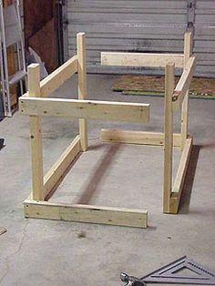 assembling two halves of workbench frame - Workbench Frame