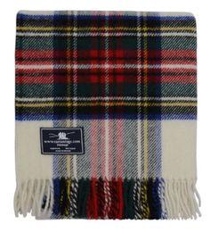 Tweedmill Textiles Blue Thompson Tartan Premium Wool Travel Rug