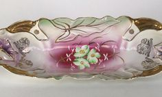 Antique Serving Dish Oval Celery Dish by APatriot on Etsy, $30.00