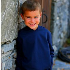 Hoodie Navy - Classic Luxury Baby and Children's clothing | KelseyMaclean.com