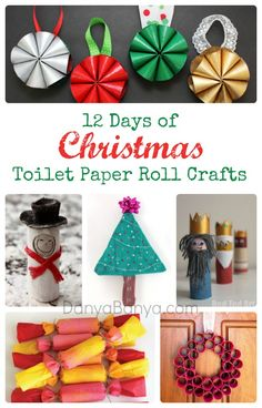 12 Days of Christmas Toilet Paper Roll Crafts - so many wonderful Christmassy things to do with the humble loo roll! ~ Danya Banya
