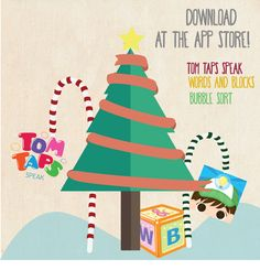 It's the most wonderful time of the year! Make it more wonderful with our line of apps available for free on the iTunes - Tom Taps Speak 2, Words and Blocks, and Bubble Sort. Download now and share the most wonderful laughs with your loved ones.  You can learn more about our apps at http://tomtaps.com/apps/  #AACapps #AppsforAutism #TexttoSpeechApps #TomTaps